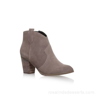 Women Miss KG - Brown 'Sade' Hight Heel Ankle Boots Upper Suede Lining Synthetic FIVWJLN