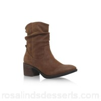 Women Miss KG - Brown 'Travis' low heel biker boots Upper Synthetic Lining Synthetic SVMELZN
