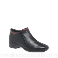 Women Rieker - Black 'Drizzle' womens casual ankle boots Heel height 3cm/1.2 inches Fastening zip QFQRDFE