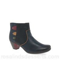 Women Rieker - Navy 'Sign' womens casual ankle boots Heel height 5.5cm/2.2 inches Fastening zip OWHGTEA