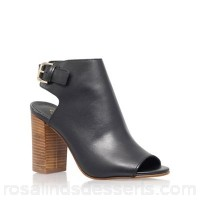 Women Carvela - Black 'Assent' high heel shoe boot Upper Leather Lining Synthetic BFUDGQU