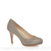 Women Debut - Dark grey glitter 'Dobbie' high stiletto heel court shoes Heel height 9cm/3.5 inches Upper textile KTESODH