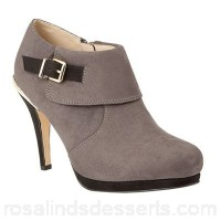 Women Lotus - Grey 'Vollmer' high heel shoe boots Heel height 9.5cm/3.74 inches Fastening zip YDCULME