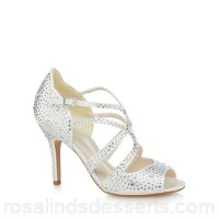 Women No. 1 Jenny Packham - Ivory 'Petal' high stiletto heel peep toe shoes Heel height 10cm/4 inches Upper textile MPXXGZW