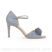 Women Phase Eight - Blue ophelia flower trim heeled sandals Collection sicily Material 100% polyester RCEMGCO