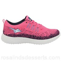 Women Gola - Pink/blue 'Saint' ladies lace up sports trainers Fastening lace Upper breathable mesh HLDXPHO