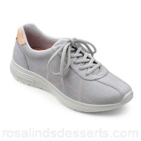 Women Hotter - Grey suede 'Solar' lace up trainers Sports inspired styling Extra-long laces for adjustability HBVBADI