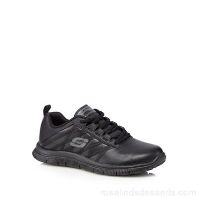 Women Skechers - Black 'Flex Flex Appeal' trainers Upper leather / man made materials Lining textile SNNXERZ