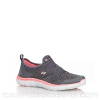 Women Skechers - Grey 'Flex Appeal 2.0' trainers Upper man made materials / textile Lining textile WNTMFAP