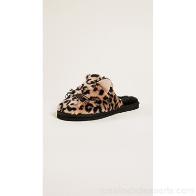 Kate Spade New York Women Belindy Plush Slippers Natural Leopard KATES44258 XKXSOHF